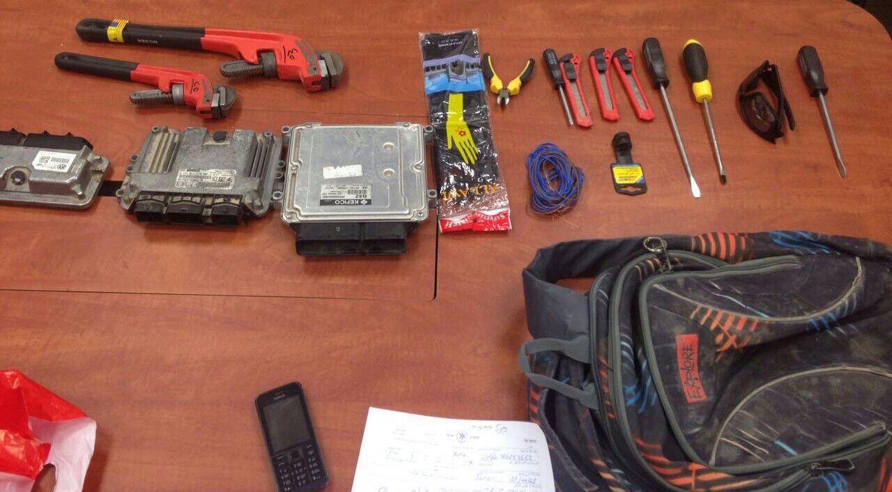 כלי עבודה של גנבי רכב