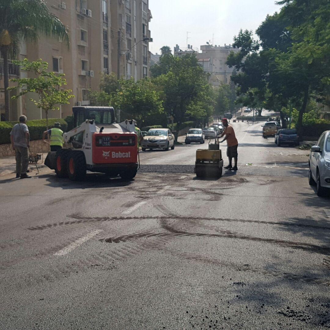 פתח תקווה - עבודות בכביש ברחוב היבנר. צילום השבוע בפתח תקווה (2)