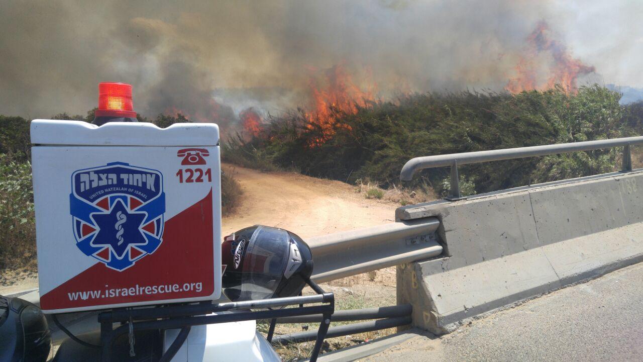 שריפה צומת ירקונים פתח תקווה (3)