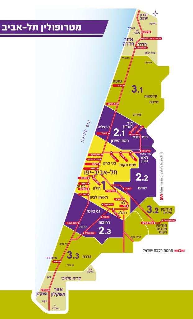 מפת מטרופולין תל אביב