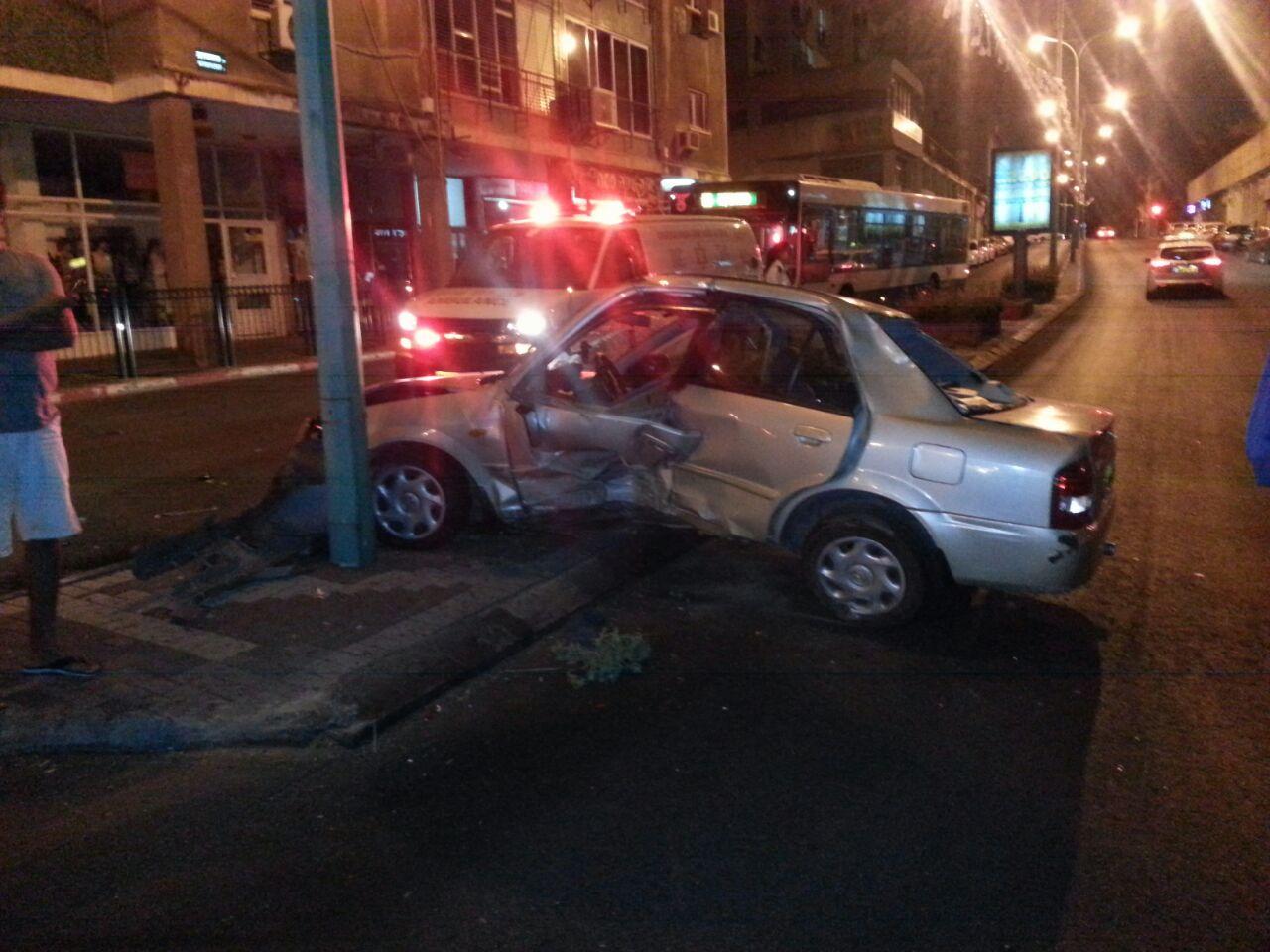 תאונה ברחוב ההסתדרות בפתח תקווה