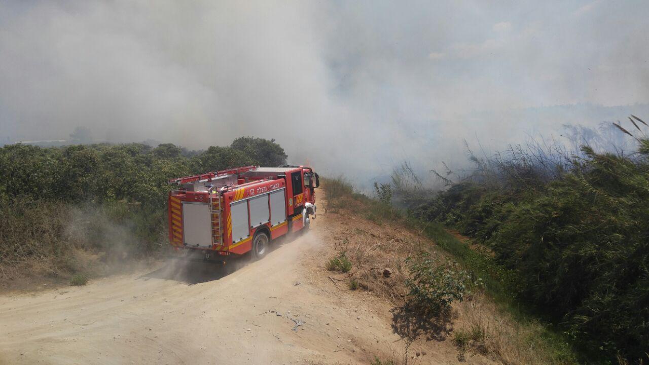 שריפה צומת ירקונים פתח תקווה (2)