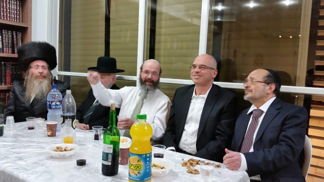 """תיעוד: מעמד הקבלת פני רבי של רב העיר פ""""ת הגאון הרב מיכה הלוי"""