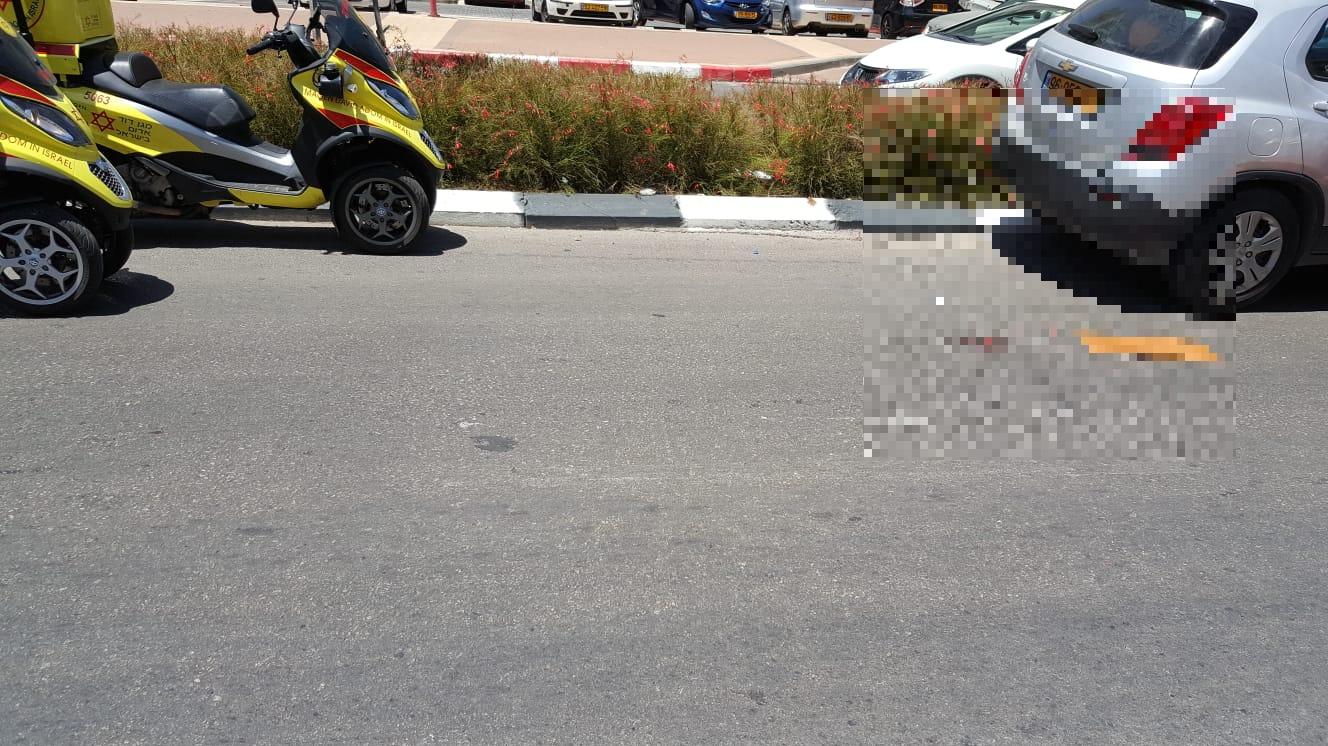 ילדה כבת 8 נפצעה בתאונת דרכים ברחוב כצלנסון
