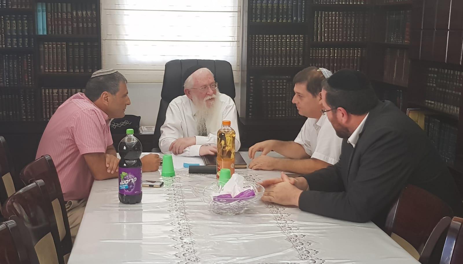 פרסום ראשון: ברוכי, דיעי ואורי אוהד נפגשו עם הגאון הרב יגאל רוזן