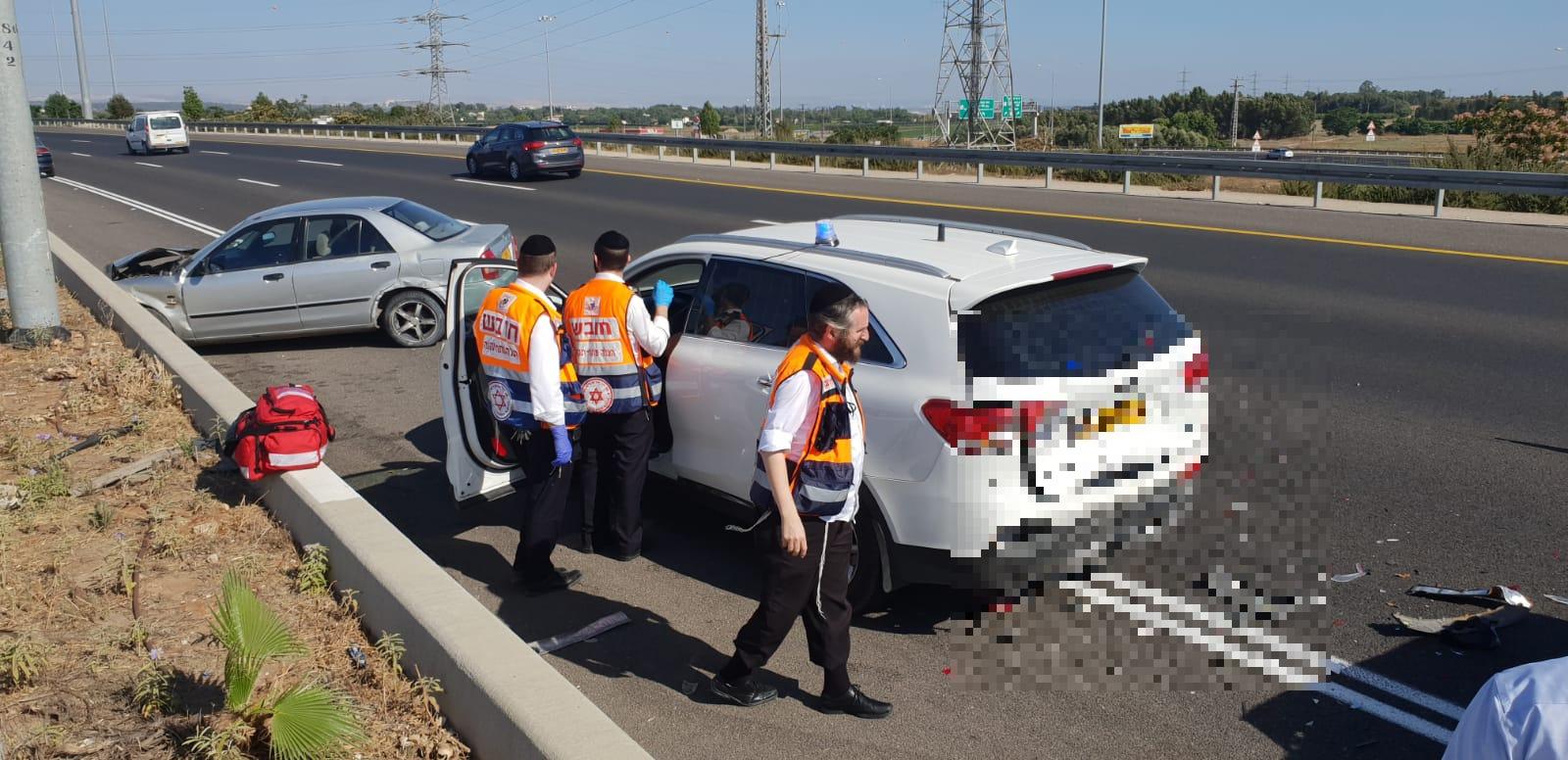 """בתוך שעתיים: 2 תאונות דרכים באותו מקום בכביש 471 מחלף שעריה פ""""ת"""