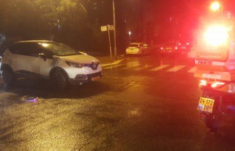 רחוב הרצל: הולך רגל נפצע בינוני מפגיעת מכונית