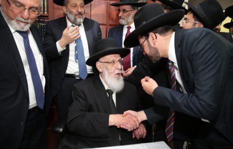 אחרי הניצחון: בוסו הגיע להודות ולהתברך אצל מרן חכם שלום כהן