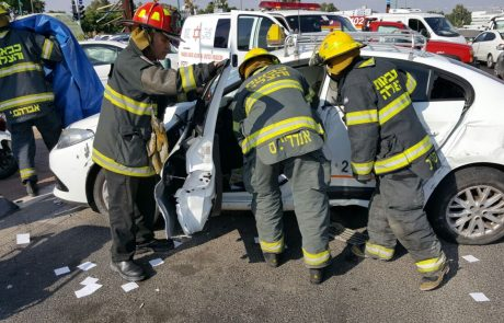שלושה פצועים בתאונת דרכים בצומת העיפרון בפתח תקווה
