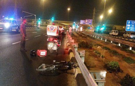 תאונה קטלנית בצומת נחלים: רוכב אופניים נהרג מפגיעת מכונית