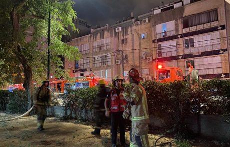 """פצועה קשה ופצוע בינוני בשריפה בדירה ברחוב קיש בפ""""ת"""