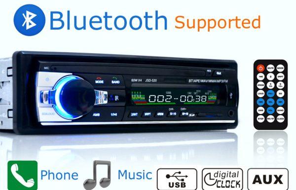 עכשיו במבצע: מערכת סטריאו לרכב עם MP3, בלוטוס וחיבור USB ו-AUX