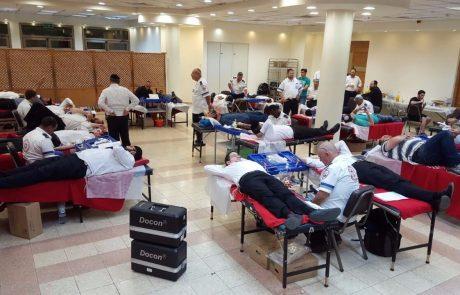 למעלה מ 300 תורמי דם בשכונת 'הדר גנים' בפתח תקווה