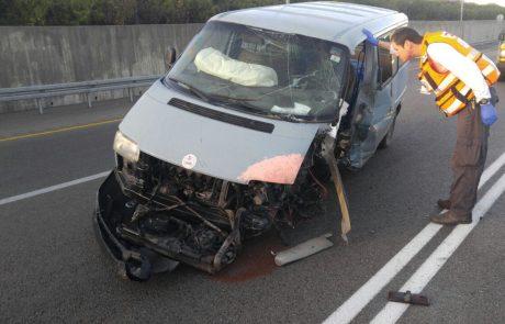 """פצוע בינוני בתאונה עצמית בכביש 471 סמוך למחלף שעריה פ""""ת"""