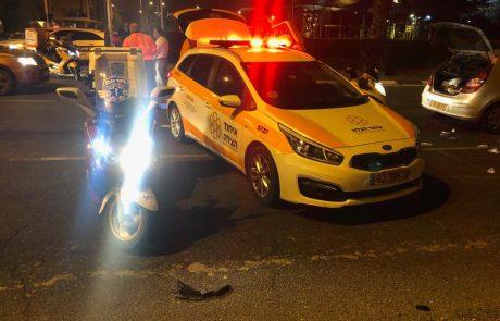רחוב הושע: רוכב אופנוע כבן 30 נפצע קשה