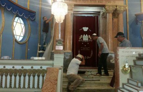 בשעה טובה: החל השיפוץ בבית הכנסת הגדול בפתח תקווה