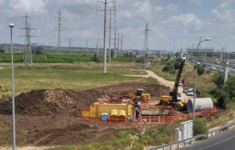פרויקט הנחת קו המים החדש בעקבות העבודות על הרכבת הקלה באזור פתח תקווה