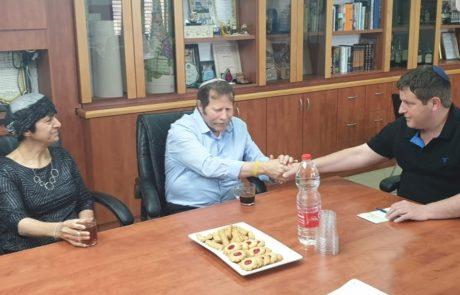 ראש העיר נפגש עם ראש מנהל החינוך הדתי במשרד החינוך