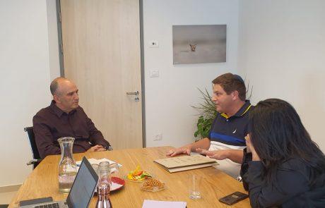 """ראש העיר רמי גרינברג נפגש עם מנכ""""ל המשרד להגנת הסביבה"""