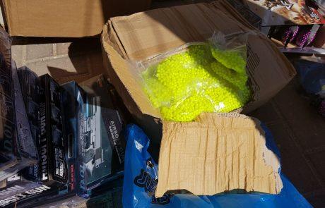 """מאות משחקים מסוכנים אותרו בחנות צעצועים ברחוב חובבי ציון בפ""""ת"""