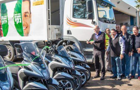 כלי רכב נוספים הצטרפו למערך כלי העבודה העירוניים בפתח תקווה