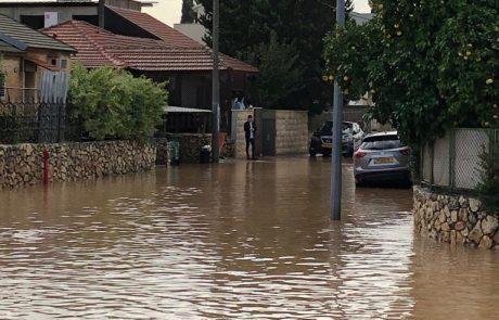 מזג האוויר הסוער: הצפות בשכונת עמישב ומרכז העיר – צפו בתיעוד