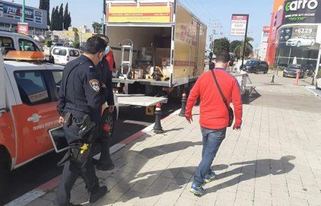 עיריית פתח תקווה קידמה מבצע אכיפה במרכזי קניות