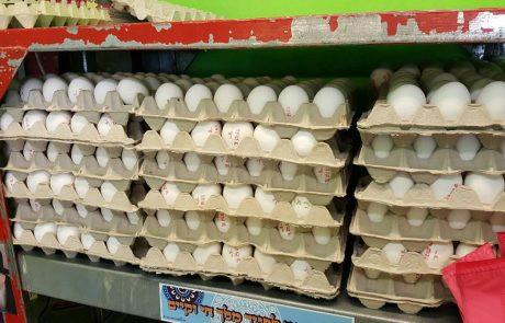 סכנת נפשות: מאות ביצים עם סימון מזויף בחנות במרכז פתח תקוה