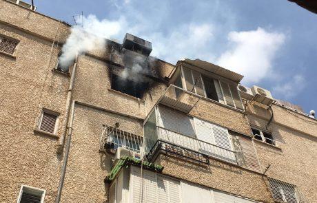 שריפה בדירה ברחוב דגל ראובן, אישה נפגעה משאיפת עשן