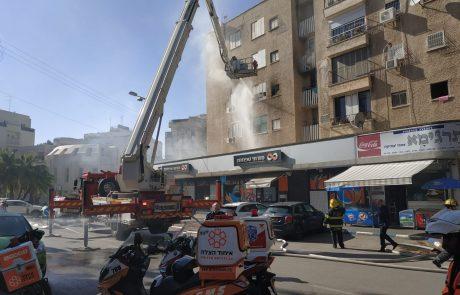 תיעוד: שריפה פרצה בדירת מגורים ברחוב לוין בעיר