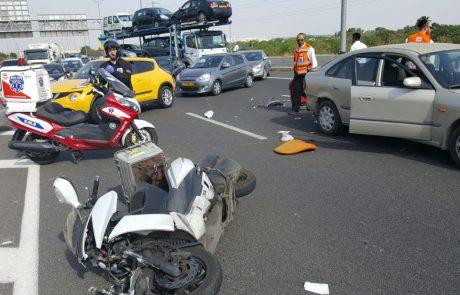 """תאונת דרכים סמוך למחלף שעריה בפ""""ת: שלושה בני אדם נפצעו"""