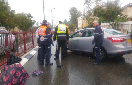 """תאונת דרכים קשה ברחוב ז'בוטינזקי פינת כצלנסון בפ""""ת"""