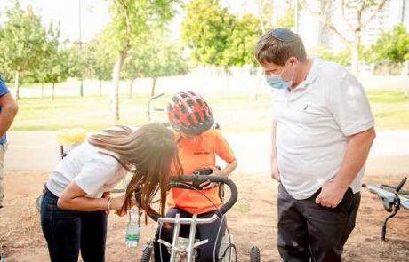 """פעילות """"מועדון רוכבי התקווה"""" בפארק אוחיון מתחדשת"""