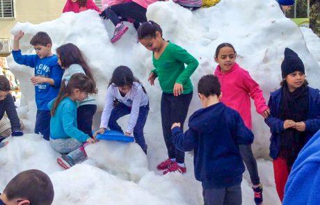 גם החורף יוקמו מוקדי שלג ברחבי העיר פתח תקווה