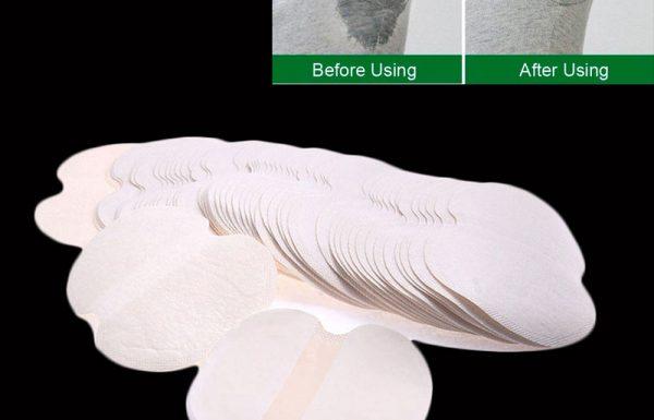 מגני זיעה סופגים חד פעמיים הנדבקים לחולצה | 100 יחידות בחבילה