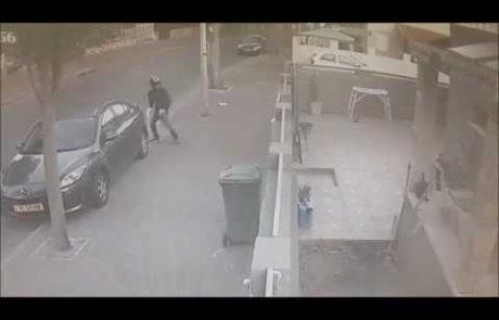 תיעוד: רימון הושלך לחצר בית בשכונת עמישב – נעצרו חשודים