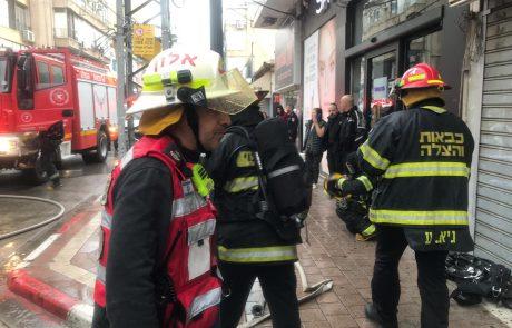 רחוב חובבי ציון: 9 בני אדם חולצו בשריפה שפרצה בדירת מגורים