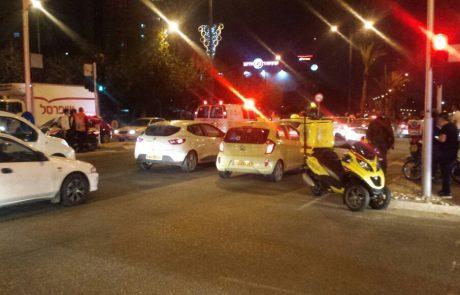 """תאונת דרכים בצומת סירקין בפ""""ת: רוכב אופניים נפצע בינוני"""